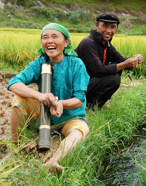 A farmer in Lung Cu Commune