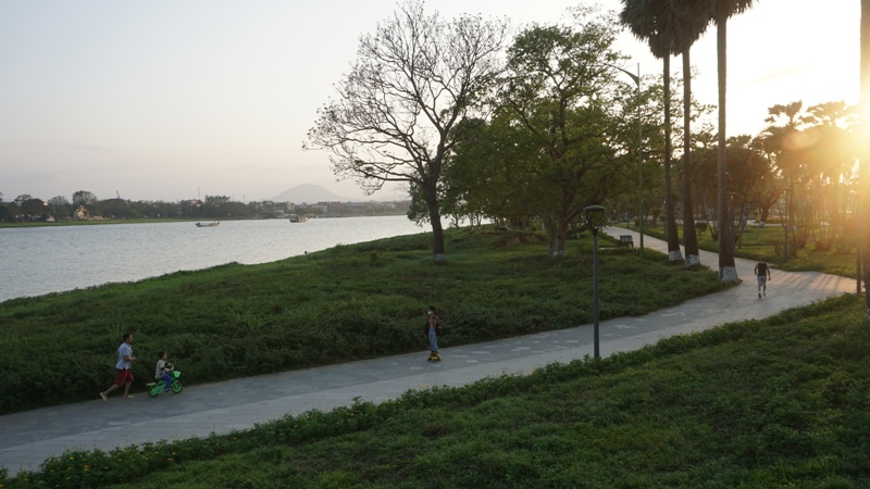 Huong River, Hue City